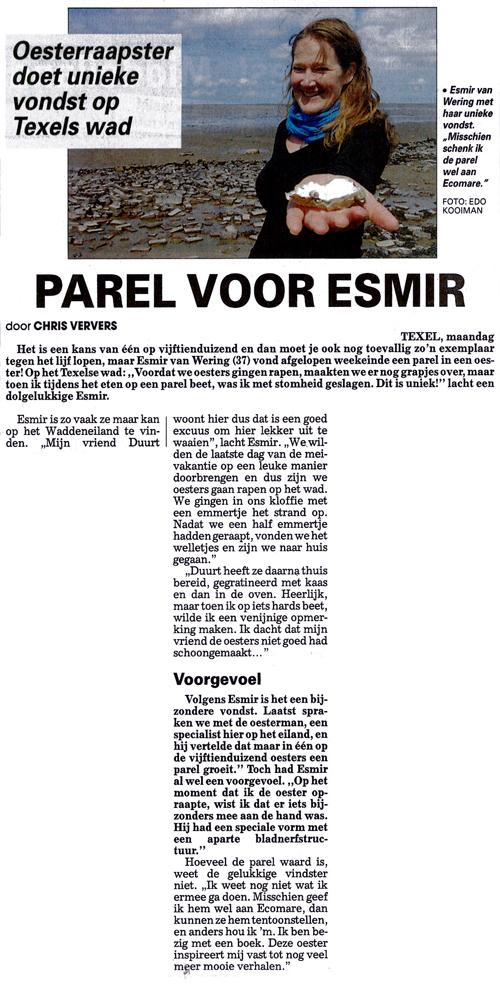 Esmir Telegraag 7 mei 2012